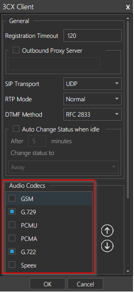 Constant background noise or voice cuts in 3CX Softphone | KBase